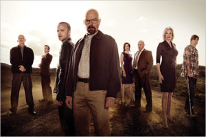 """The cast of the show """"Breaking Bad."""" Image taken from: cdn01.cdnwp.celebuzz.com."""