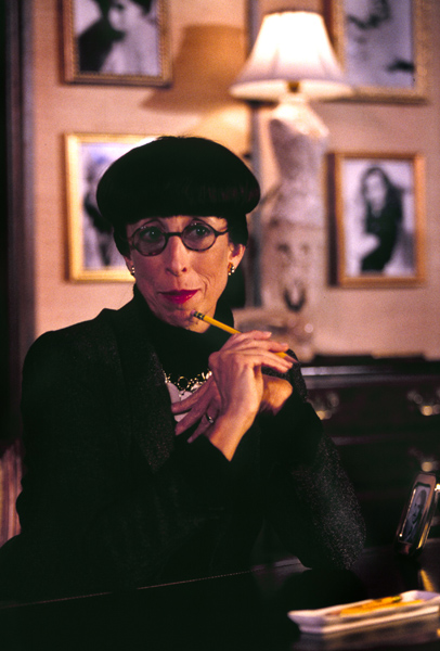 A photo of the notorious designer, Edith Head. Image taken from: stageandcinema.com.
