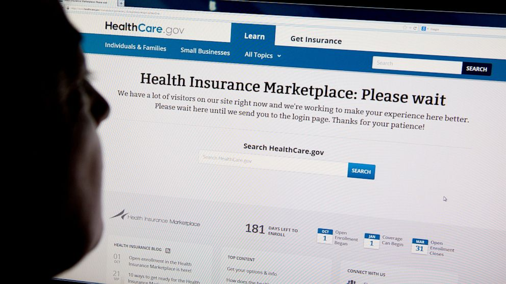 Here's what the interface looks like for the new (and hardly improved) healthcare website. Image taken from: a.abcnews.com.