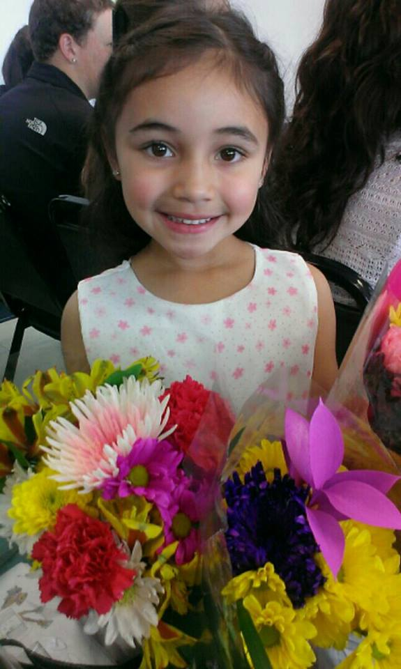 A picture of the smiling young six year-old, Nina. Photo courtesy of: Sandie Figueroa.