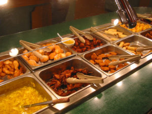 An example of one strip at a common all-you-can-eat buffet. Image taken from: blogs.westword.com.