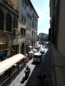 Another look down a narrow Florence alleyway. By Rachel Kenny.