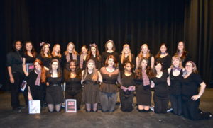 A group shot of the student performers. By Amanda Gruber.