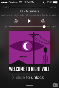 A screen-grab taken by Verge writer, Will Brucella, while listening to a Night Vale podcast.