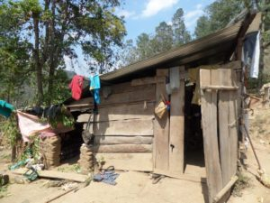 A glimpse of the dwelling of one Guatemalan family. By Sandie Figueroa.