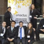 Enactus club members at the National Exposition. Photo provided by: