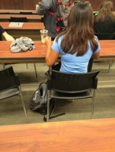 When does sitting in a classroom become unsafe? Photo courtesy of Rebecca Gaona