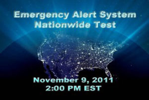 Emergency Alert System Test on Nov. 9